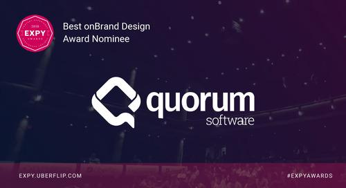 Quorum Software, Best onBrand Design