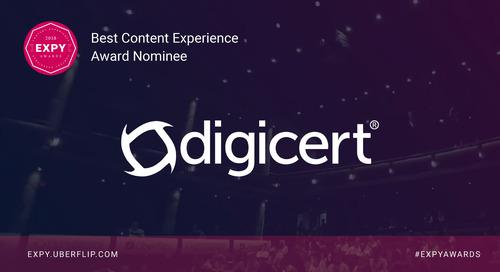 DigiCert, Best Content Experience