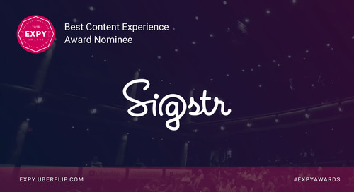 Sigstr, Best Content Experience