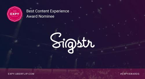 Sigstr, Best Content Experience
