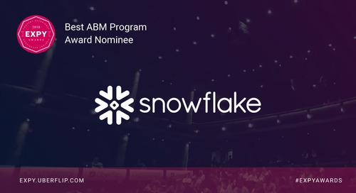 Snowflake Computing, Best ABM Program