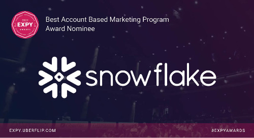 Snowflake, Best Account Based Marketing Program