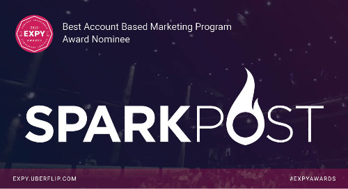 SparkPost, Best Account Based Marketing Program