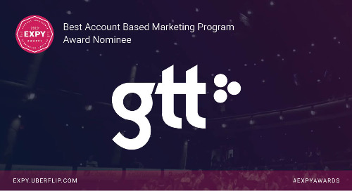 GTT, Best Account Based Marketing Program