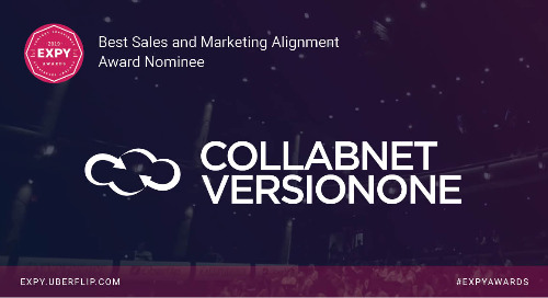 CollabNet VersionOne, Best Sales and Marketing Alignment