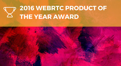 2016 WEBRTC PRODUCT OF THE YEAR AWARD