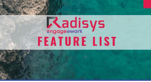 Radisys Engage@Work Feature List