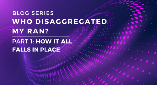 Who Disaggregated My RAN? Part 1: How it all falls in place