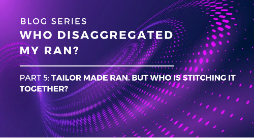 Who Disaggregated My RAN? Part 5: Tailor-made RAN. But who is stitching it together?