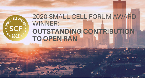 2020 Small Cell Forum Award - Outstanding Contribution to Open RAN Winner