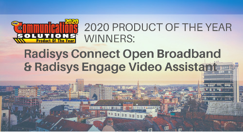 2020 TMC Product of the Year Awards: Engage Video Assistant & Connect Open Broadband