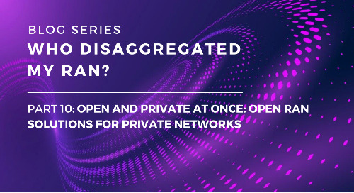 Who Disaggregated My RAN? Part 10: Open and Private at Once: Open RAN Solutions for Private Networks