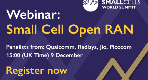 Webinar: Small Cell Open RAN