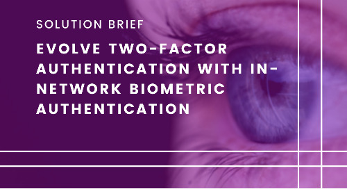 Evolve Two-Factor Authentication with In-Network Biometric Authentication