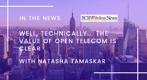 Well, technically… the value of open telecom is clear: Natasha Tamaskar, Radisys
