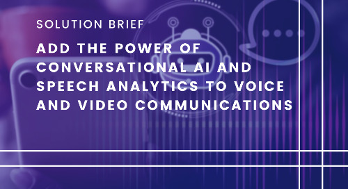 Add the Power of Conversational AI and Speech Analytics to Voice and Video Communications