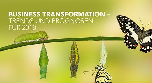 Das sind die fünf wichtigsten Trends 2018 im Bereich Business Transformation