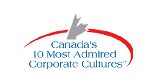 Prix dans le cadre du Programme des 10 cultures d'entreprises canadiennes les plus admirées de 2010