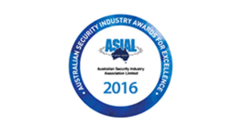2016 Australian Security Industry Awards for Excellence - Winner