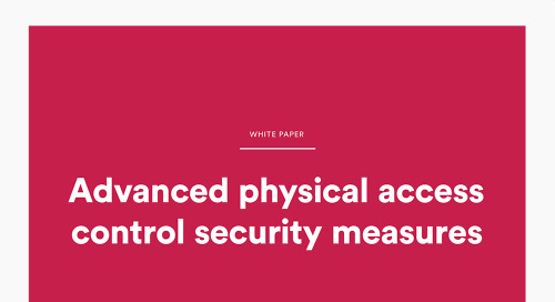 Advanced physical access control security measures