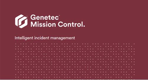 Genetec Mission Control collaborative decision management system