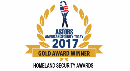 2017 ASTORS Homeland Security Awards - Winner