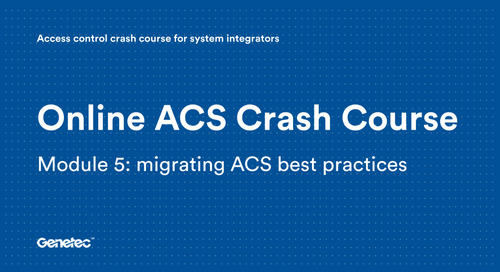 Module 5: Migrating ACS best practices (Presentation)