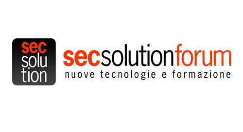 SecSolutionForum 2019 - FIorence, Italy | May 9, 2019