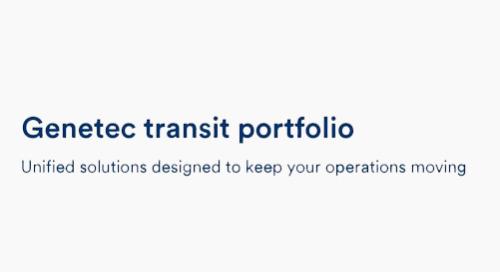 Genetec transit portfolio