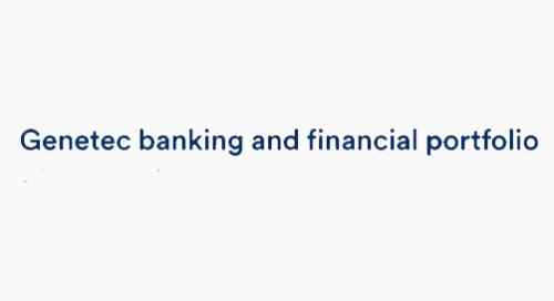 Genetec banking and financial portfolio