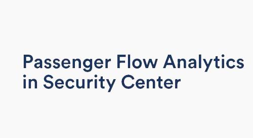 Security Center Passenger Flow Analytics