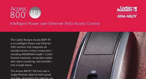 Corbin Russwin Access 800 IP1 PoE