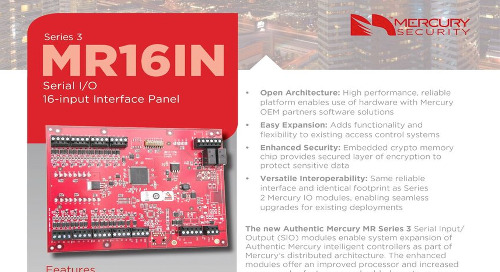 Mercury MR16IN Serial I/O 16-input interface panel