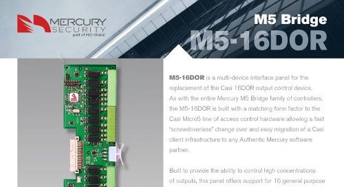 Mercury M5-16DOR multi-device interface panel