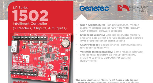 Mercury LP1502 intelligent controller