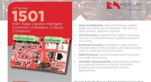 Mercury LP1501 intelligent PoE controller