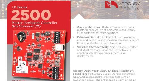 Mercury LP2500 intelligent controller