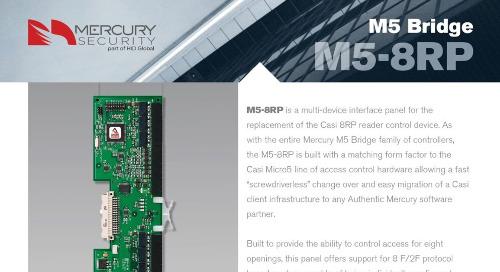 Mercury M5-8RP multi-device interface panel