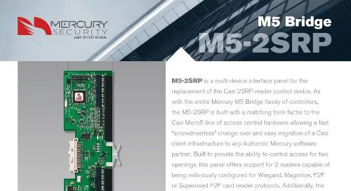 Mercury M5-2SRP multi-device interface panel