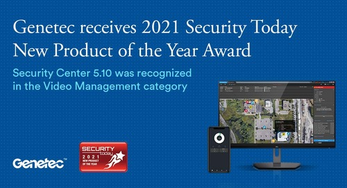2021 Security Today New Product of the Year Award