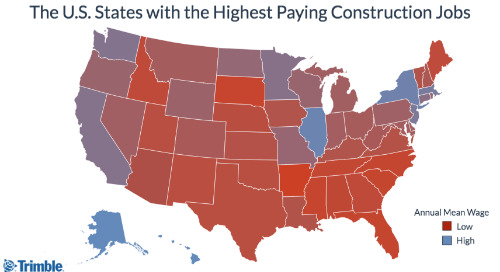 The U.S. States with the Highest Paying Construction Jobs