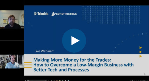 WEBINAR: Making More Money for the Trades