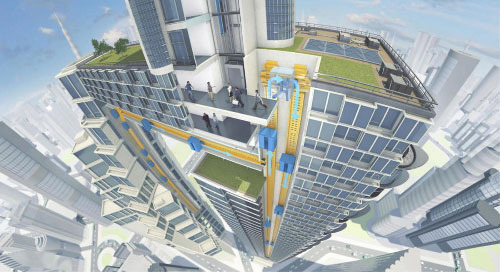 New Horizontal Elevator Will Make You Rethink Megacity Construction