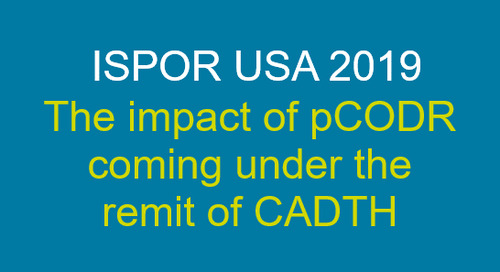The impact of pCODR coming under the remit of CADTH