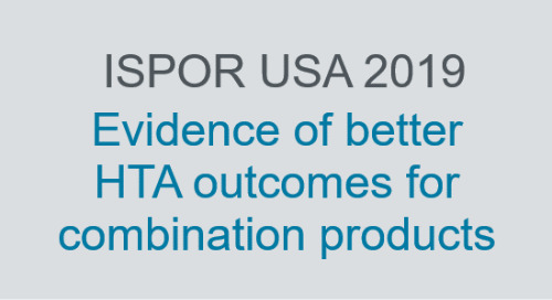 Evidence of better HTA outcomes for combination products