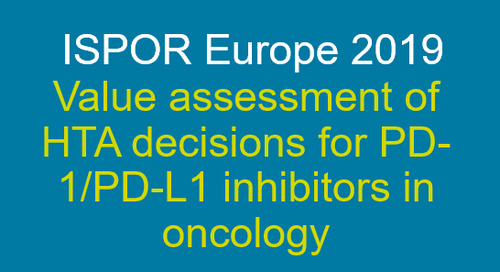Value assessment of HTA decisions for PD-1/PD-L1 inhibitors in oncology