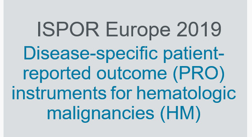 Disease-specific patient-reported outcome (PRO) instruments for hematologic malignancies (HM)