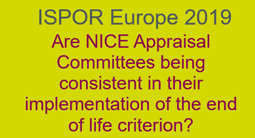 Are NICE Appraisal Committees being consistent in their implementation of the end of life criterion?