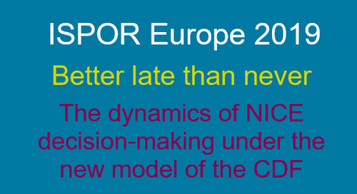 The dynamics of NICE decision-making under the new model of the CDF