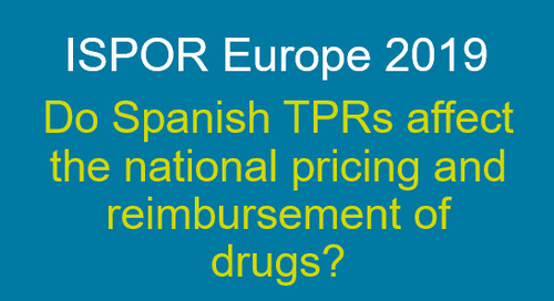 Do Spanish TPRs affect the national pricing and reimbursement of drugs?